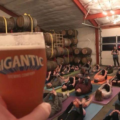 Yoga + Beer at Gigantic Brewing