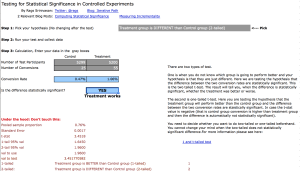 What the Split Test Calculator Looks Like