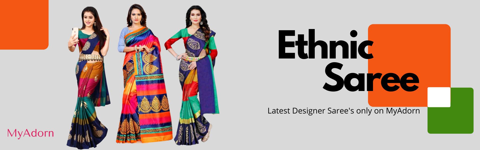 Ethnic saree myadorn banner