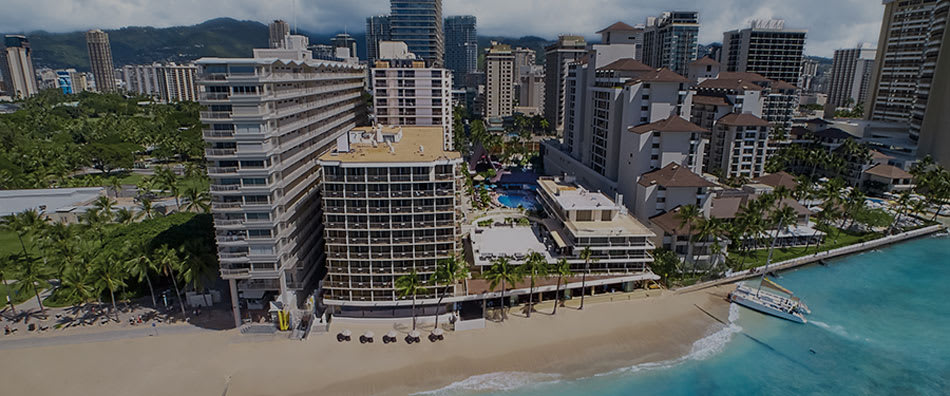 Outrigger Reef Waikiki Beach Resort Aerial View