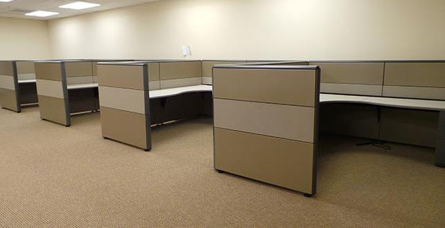 Office furniture relocation at Cubicle Resources, Santa Clara