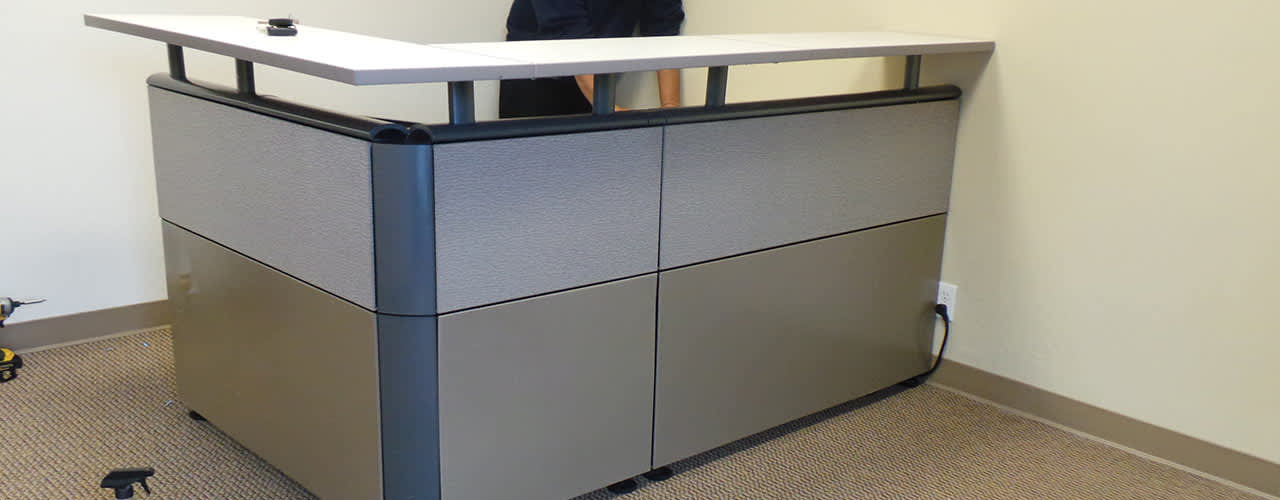 Reception Desk at Cubicle Resources, California
