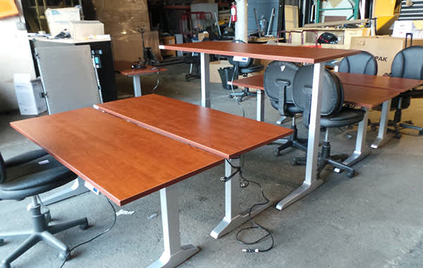 Electric Height Adjustable Tables at Cubicle Resources, California