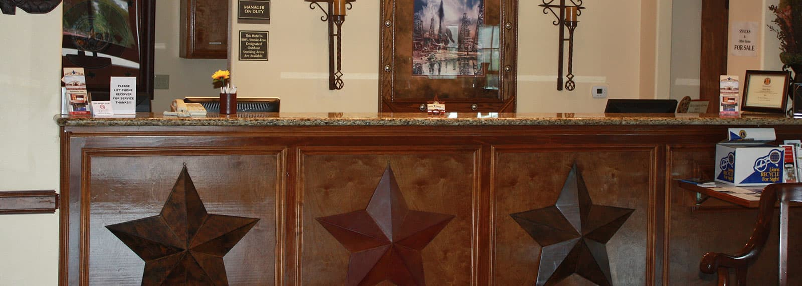 Amenities of Hotel Texas Hallettsville