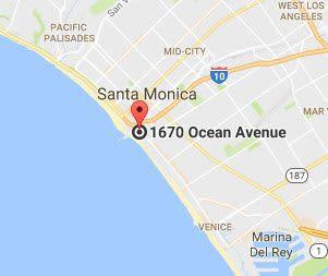 Santa Monica, California Hotel Location Map