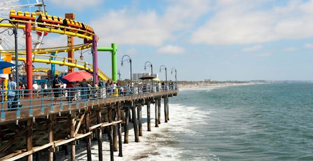Santa Monica Pier at California