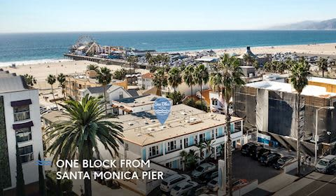Location of Santa Monica, California Hotel