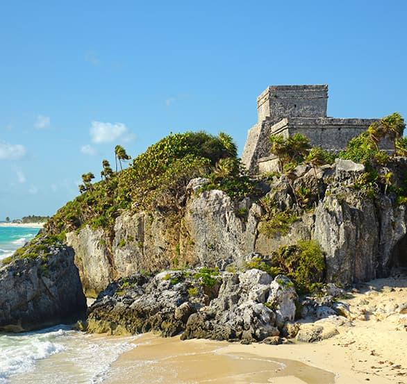 Ruinas Maya en Tulum, México