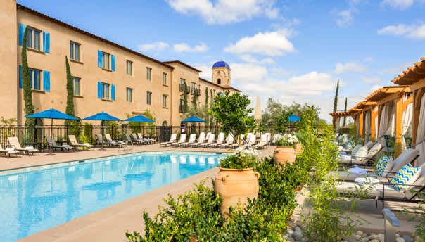 Allegretto Vineyard Resort Paso Robles Vineyard View Pool Deck