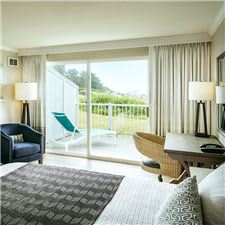 Mobility friendly guest rooms with ocean views and standard ADA amenities