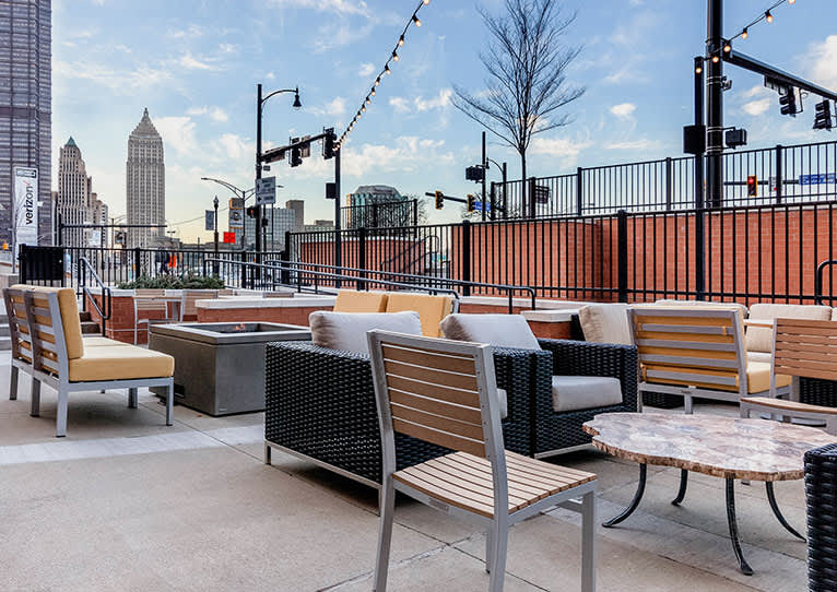 Outdoor Patio at Cambria Hotel Pittsburgh Downtown, Pennsylvania