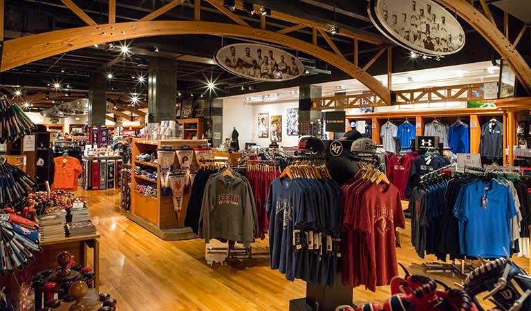 Baseball Hall of Fame Gift Shop at Cooperstown Getaway Hotel, New York
