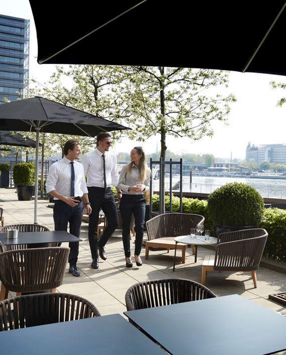 Copenhagen Marriott - Terrasse ved havnekanalen