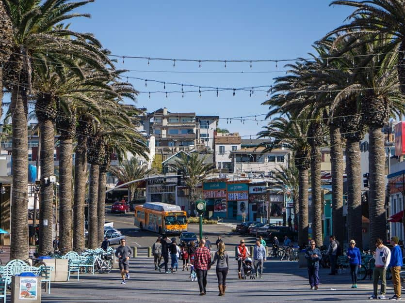 Hermosa Beach of Los Angeles, California