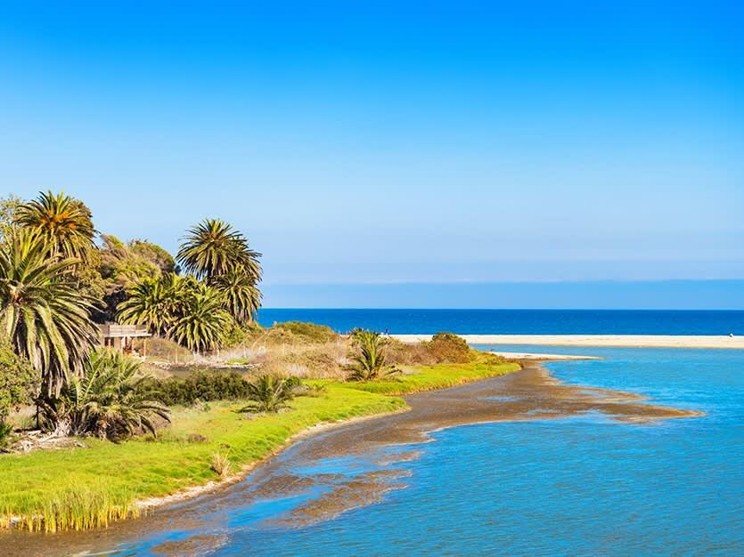 Malibu Lagoon State Beach of Los Angeles, California