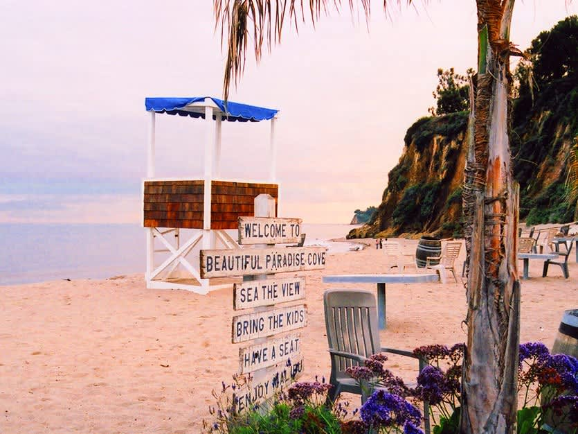 Paradise Cove Beach of Los Angeles, California