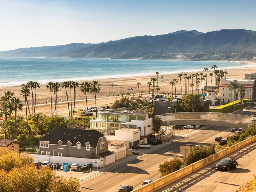 Santa Monica State Beach of Los Angeles, California