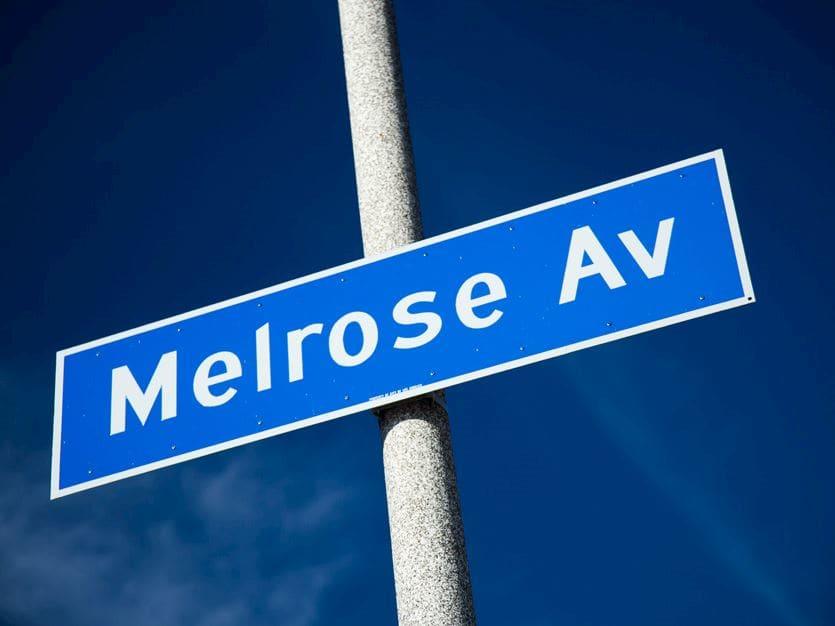Melrose Avenue at Los Angeles, California