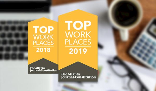 2018 Top Workplaces honor by The Atlanta Journal-Constitution