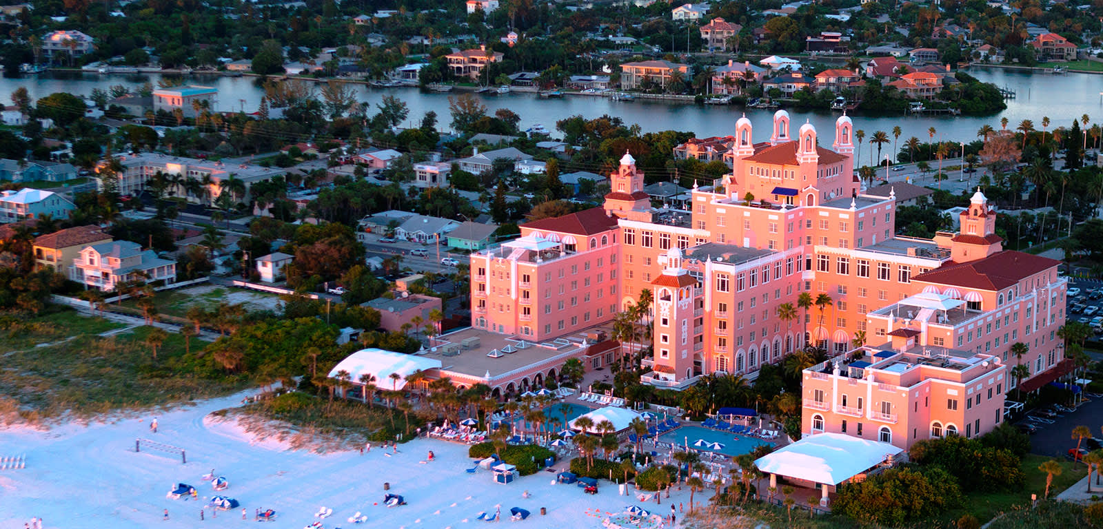 Aerial Shot of Beach Front Don Cesar