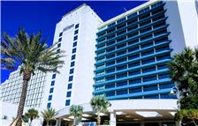 Exterior cityside Hilton Daytona Beach Oceanfront Resort