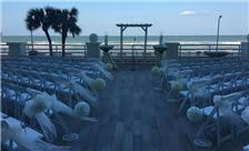 North deck wedding ceremony