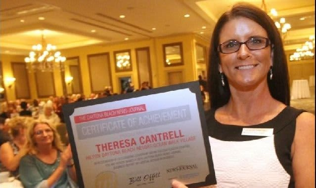 Influential Women in Business - Hilton Daytona's Theresa Cantrell Honored