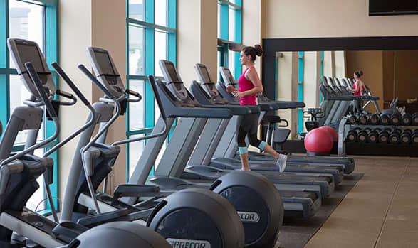 State of the Art Fitness Center at Hilton Daytona Beach Oceanfront Resort
