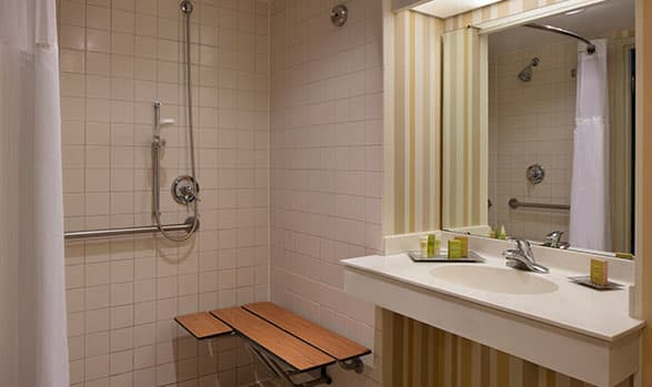 Hilton Daytona Beach Oceanfront Resort Mobility/Hearing Accessible with Roll-in Shower Room