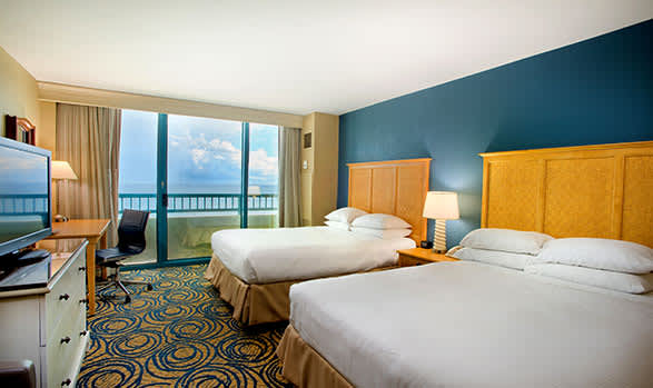 Hilton Daytona Beach Oceanfront Resort Oceanfront Room - 1 King Bed or 2 Queen Beds