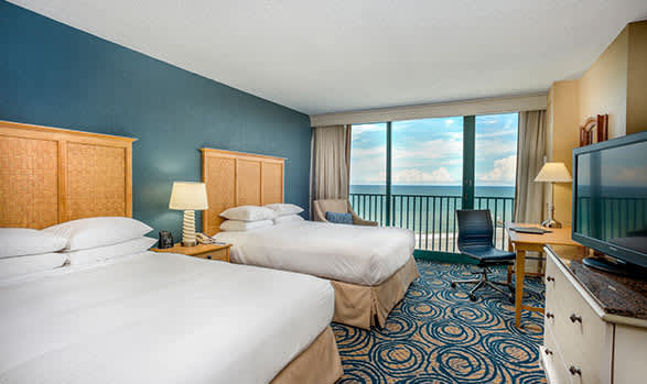 Hilton Daytona Beach Oceanfront Resort Oceanview Room - 1 King Bed or 2 Queen Beds