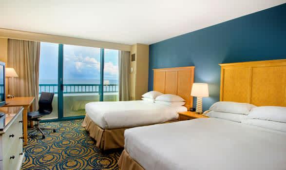 Guest Rooms of Hilton Daytona Beach Oceanfront Resort