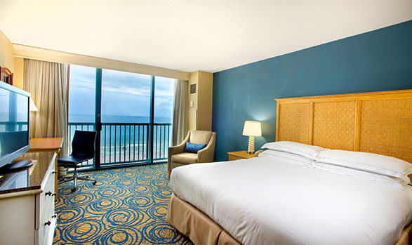 One Bedroom Suite Oceanfront - 1 King Bed or 2 Queen Beds of Hilton Daytona Beach Oceanfront Resort