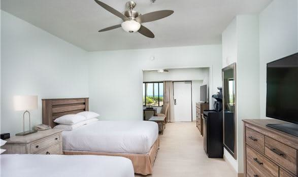 One Bedroom Cabana Suite - 2 Queen Beds at Hilton Daytona Beach Oceanfront Resort