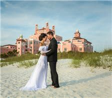 Beachfront Wedding Couple - The Don CeSar Hotel - Beachfront Wedding Couple