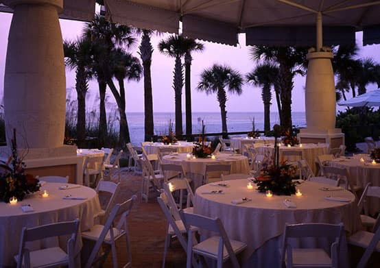 have your Weddings Reception at Beach Pavilion of The Don CeSar Hotel