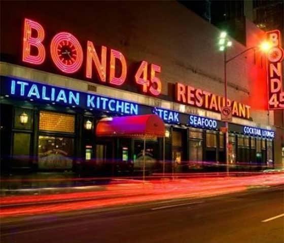 Theatre Favorite Bond 45 Restaurant Relocating To Hotel Edison