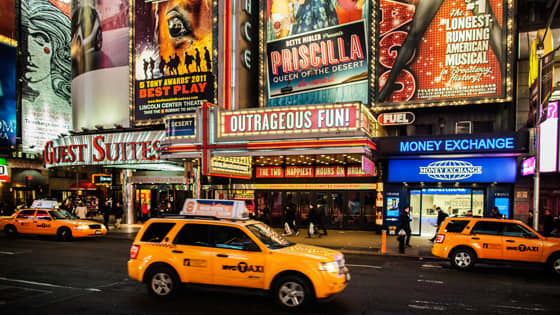 Broadway & Theater District at Newyork