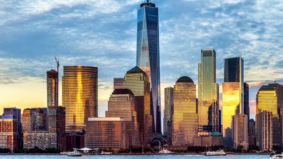Financial District & World Trade Center at Newyork