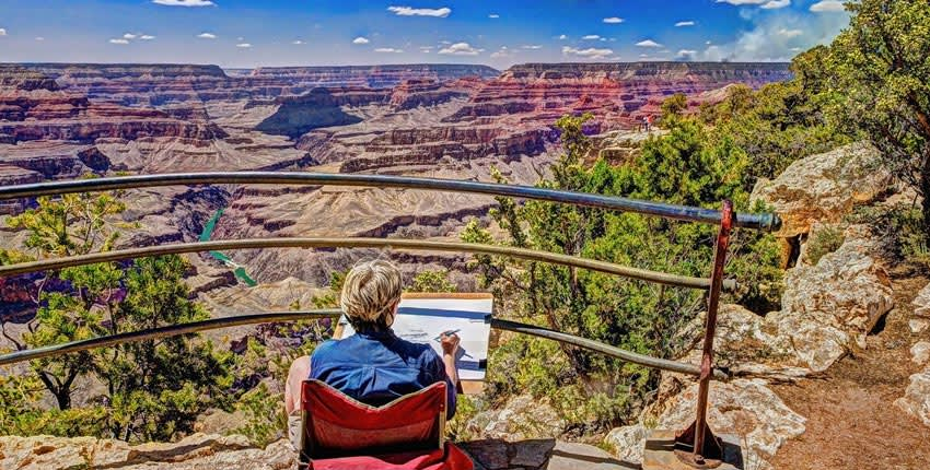 Grand Canyon Arizona South Rim View Points and Hiking Trails