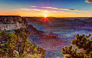 Grand Sunset Tour at Grand Canyon Arizona