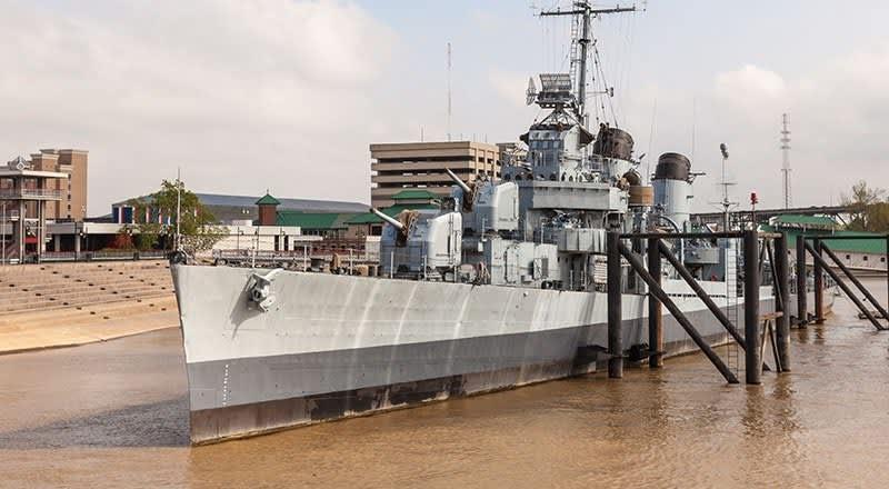 USS Kidd Site at Louisiana