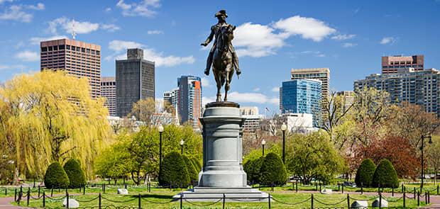 Boston Public Garden at Massachusetts