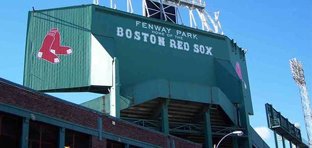 Fenway Park at Boston, Massachusetts