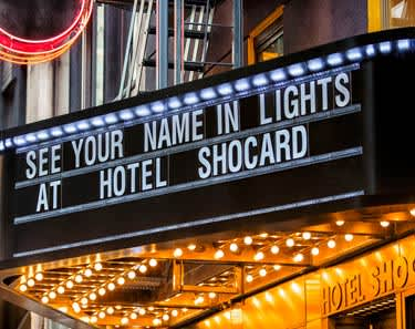 Hotel Shocard, New York offers See Your Name In Lights