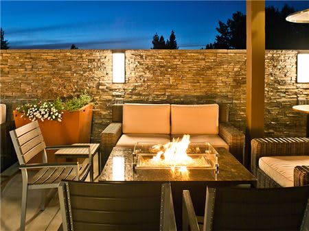 Patio Deck with Fire Pits