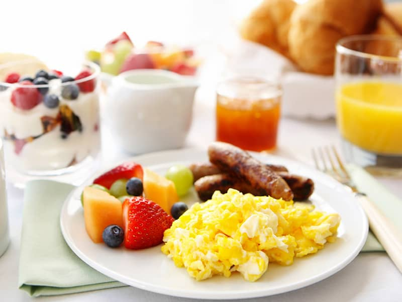 Breakfast at Mountain View, California Hotel