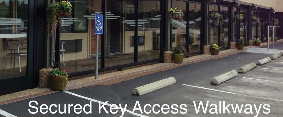 Secured Key Access Walkways
