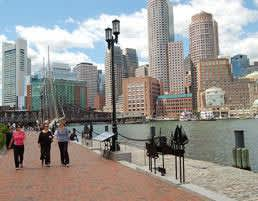Boston Harborwalk at Massachusetts