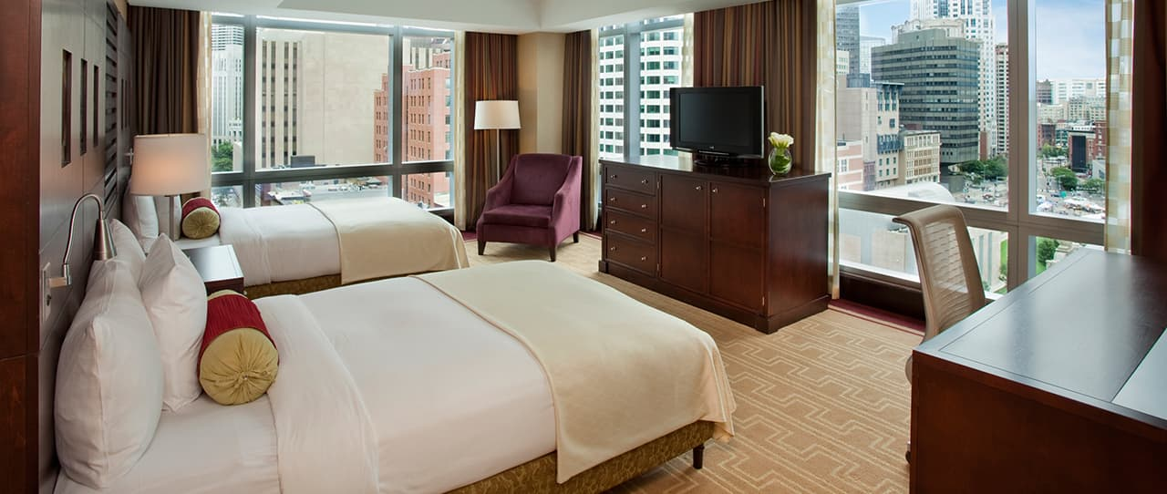 2 Queen Beds Premier City View at Intercontinental Boston, Massachusetts